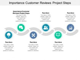 Importance Customer Reviews Project Steps Ppt Powerpoint Presentation Gallery Visuals Cpb