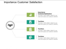 Importance Customer Satisfaction Ppt Powerpoint Presentation Infographic Template Designs Cpb