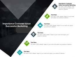 Importance Customer Value Successful Marketing Ppt Powerpoint Presentation Slides Tips Cpb