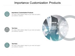 Importance Customization Products Ppt Powerpoint Presentation Professional Show Cpb