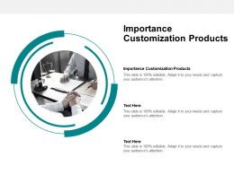 Importance Customization Products Ppt Powerpoint Presentation Show Inspiration Cpb