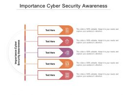 Importance Cyber Security Awareness Ppt Powerpoint Presentation Layouts Graphics Cpb