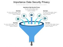 Importance Data Security Privacy Ppt Powerpoint Presentation Model Slideshow Cpb
