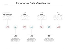 Importance Data Visualization Ppt Powerpoint Presentation Infographic Cpb