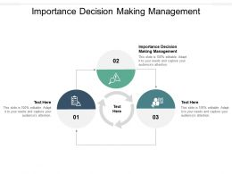 Importance Decision Making Management Ppt Powerpoint Presentation Infographic Template Picture Cpb
