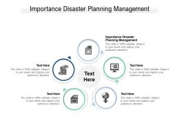 Importance Disaster Planning Management Ppt Powerpoint Presentation Styles Picture Cpb