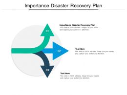 Importance Disaster Recovery Plan Ppt Powerpoint Presentation Slides Format Cpb