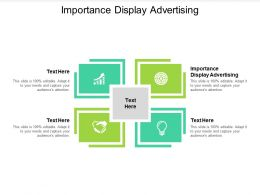 Importance Display Advertising Ppt Powerpoint Presentation Infographic Template Grid Cpb