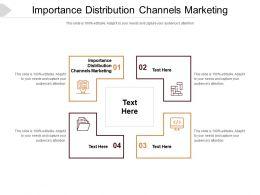 Importance Distribution Channels Marketing Ppt Powerpoint Presentation Inspiration Cpb