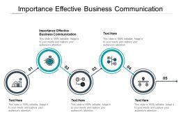 Importance Effective Business Communication Ppt Powerpoint Presentation Tips Cpb