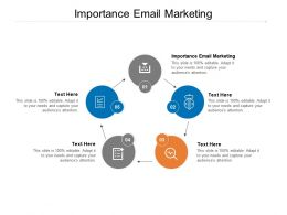 Importance Email Marketing Ppt Powerpoint Presentation File Templates Cpb