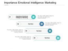 Importance Emotional Intelligence Marketing Ppt Powerpoint Layouts Cpb