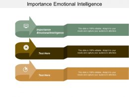 Importance Emotional Intelligence Ppt Powerpoint Presentation Pictures Design Templates Cpb