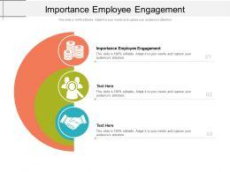 Importance Employee Engagement Ppt Powerpoint Presentation Professional Slideshow Cpb