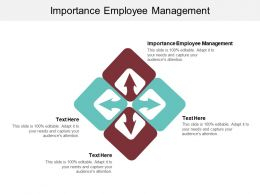 Importance Employee Management Ppt Powerpoint Presentation File Example Topics Cpb