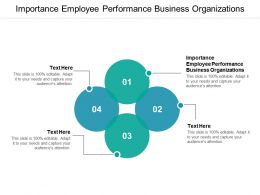 Importance Employee Performance Business Organizations Ppt Powerpoint Presentation Cpb