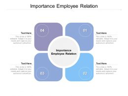 Importance Employee Relation Ppt Powerpoint Presentation Gallery Design Templates Cpb