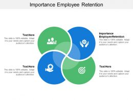 Importance Employee Retention Ppt Powerpoint Presentation Icon Sample Cpb