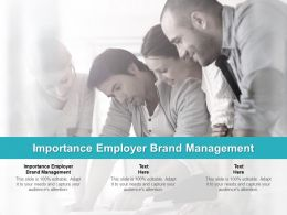 Importance Employer Brand Management Ppt Powerpoint Presentation Ideas Graphics Cpb