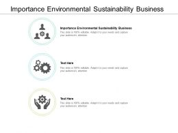 Importance Environmental Sustainability Business Ppt Powerpoint Presentation Tips Cpb