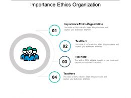 Importance Ethics Organization Ppt Powerpoint Presentation Slides Structure Cpb