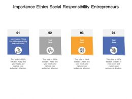 Importance Ethics Social Responsibility Entrepreneurs Ppt Powerpoint Presentation Pictures Cpb