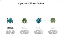 Importance Ethics Values Ppt Powerpoint Presentation Show Slides Cpb