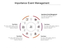 Importance Event Management Ppt Powerpoint Presentation Pictures Backgrounds Cpb