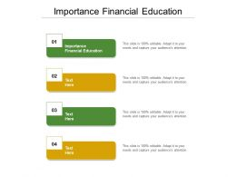 Importance Financial Education Ppt Powerpoint Presentation Ideas Objects Cpb