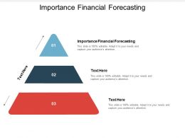 Importance Financial Forecasting Ppt Powerpoint Presentation Summary Graphics Cpb