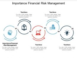 Importance Financial Risk Management Ppt Powerpoint Presentation Infographic Template Templates Cpb
