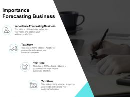 Importance Forecasting Business Ppt Powerpoint Presentation Pictures Backgrounds Cpb