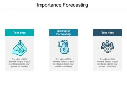 Importance Forecasting Ppt Powerpoint Presentation Outline Slide Cpb