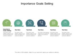 Importance Goals Setting Ppt Powerpoint Presentation Slides Icon Cpb