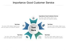 Importance Good Customer Service Ppt Powerpoint Presentation Layouts Graphics Tutorials Cpb