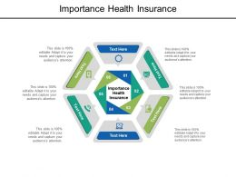 Importance Health Insurance Ppt Powerpoint Presentation Inspiration Graphics Cpb