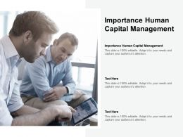 Importance Human Capital Management Ppt Powerpoint Presentation Styles Vector Cpb