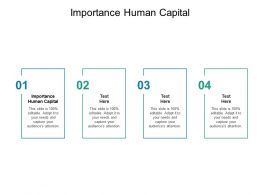 Importance Human Capital Ppt Powerpoint Presentation Slides Cpb