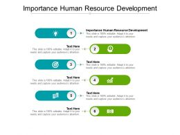 Importance Human Resource Development Ppt Powerpoint Presentation Ideas Shapes Cpb
