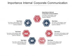 Importance Internal Corporate Communication Ppt Powerpoint Presentation Layouts Graphics Design Cpb