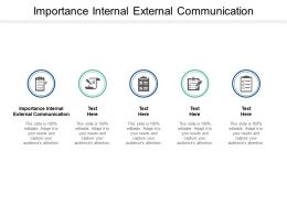 Importance Internal External Communication Ppt Powerpoint Presentation Icon Background Cpb