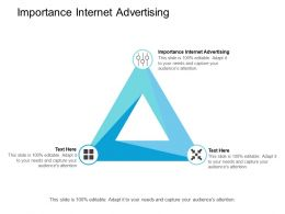 Importance Internet Advertising Ppt Powerpoint Presentation Model Templates Cpb