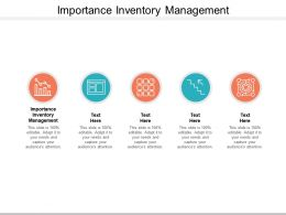 Importance Inventory Management Ppt Powerpoint Presentation Portfolio Examples Cpb