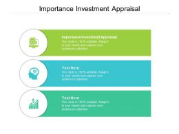 Importance Investment Appraisal Ppt Powerpoint Presentation Background Image Cpb