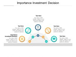 Importance Investment Decision Ppt Powerpoint Presentation Infographics Images Cpb