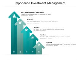 Importance Investment Management Ppt Powerpoint Presentation Model Images Cpb