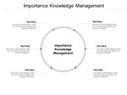 Importance Knowledge Management Ppt Powerpoint Presentation File Introduction Cpb