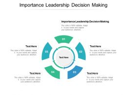 Importance Leadership Decision Making Ppt Powerpoint Presentation Outline Good Cpb