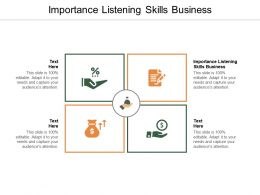 Importance Listening Skills Business Ppt Powerpoint Presentation Icon Outline Cpb