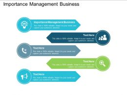 Importance Management Business Ppt Powerpoint Presentation Outline Slideshow Cpb